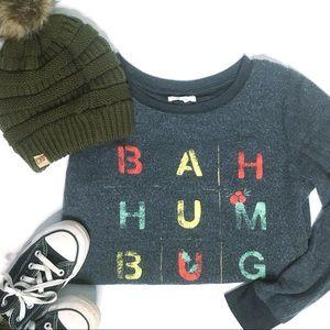 Maurices Bah Humbug Fuzzy Christmas Sweater